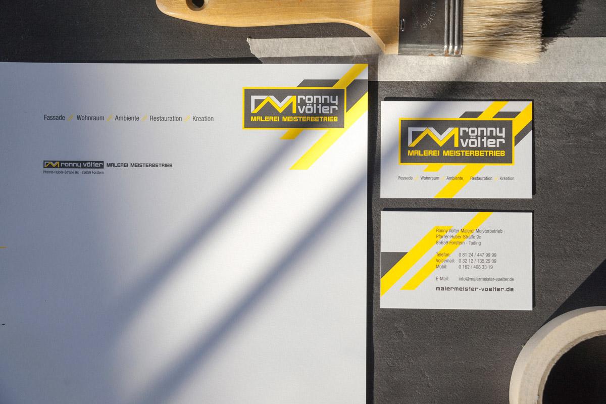 stationary visitenkarte neon karton maler malerei Fahrzeug Corporate Design branding  #HP
