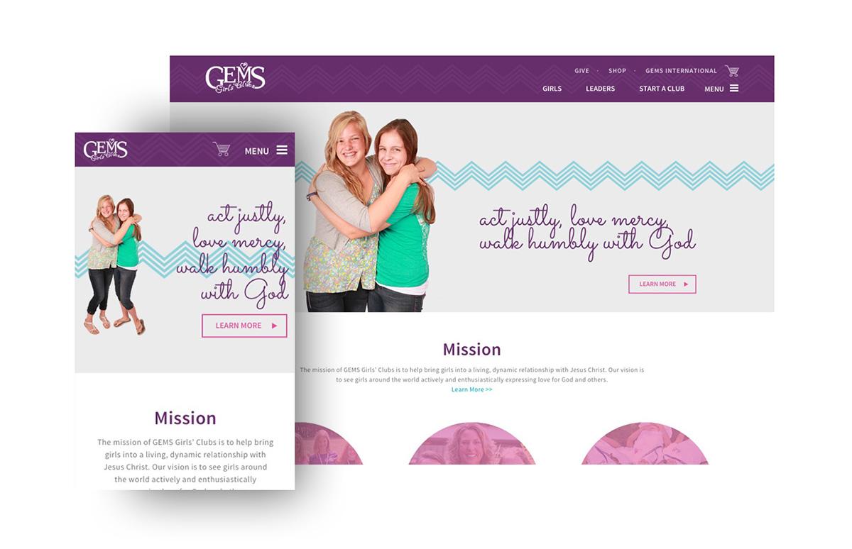 GEMS Girls' Clubs — Responsive Website on Behance