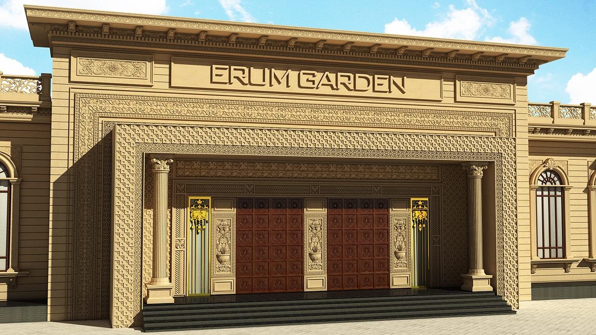 Wedding hall exterior classic design on behance for Exterior classic design