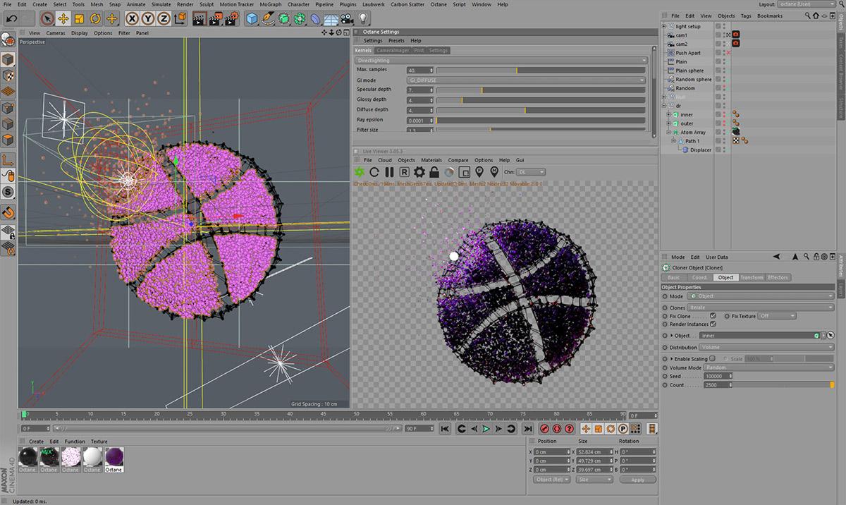 Clones cloner Render 3D abstract Space  sci-fi supernova star odyssey