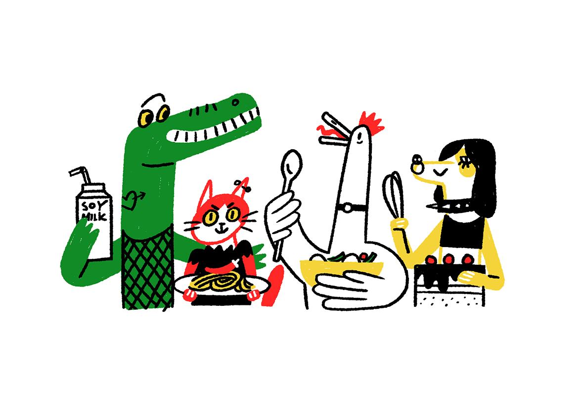 sasha baranovskaya animals fooddesign vegan