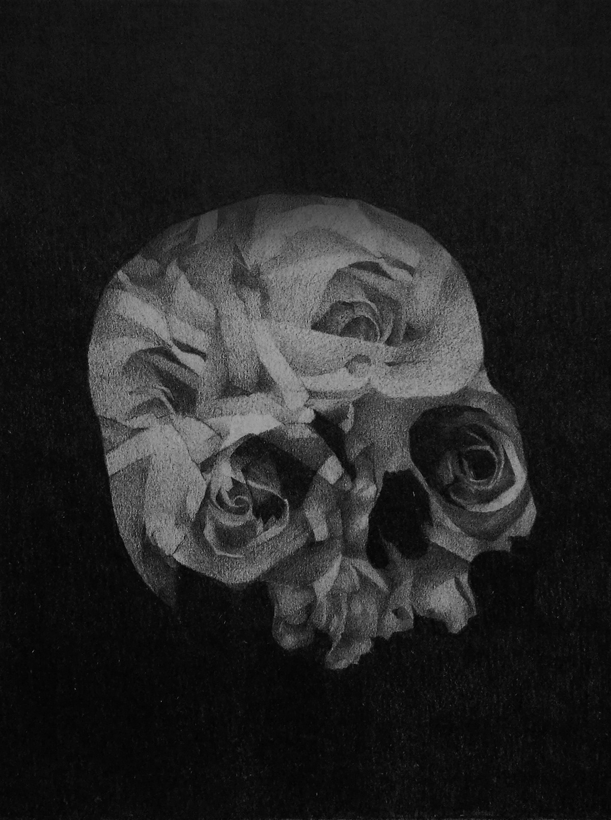 Image may contain: black and white, flower and drawing