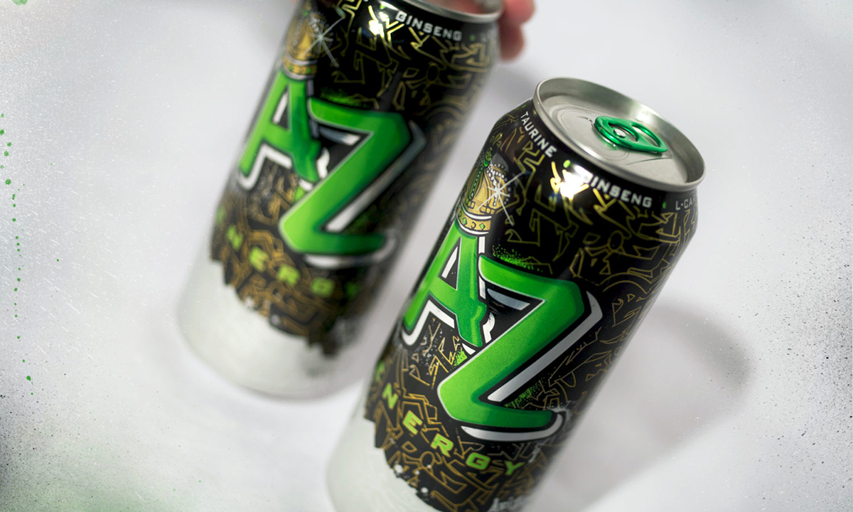 Arizona Beverages Mpire package design  energy drink marketing