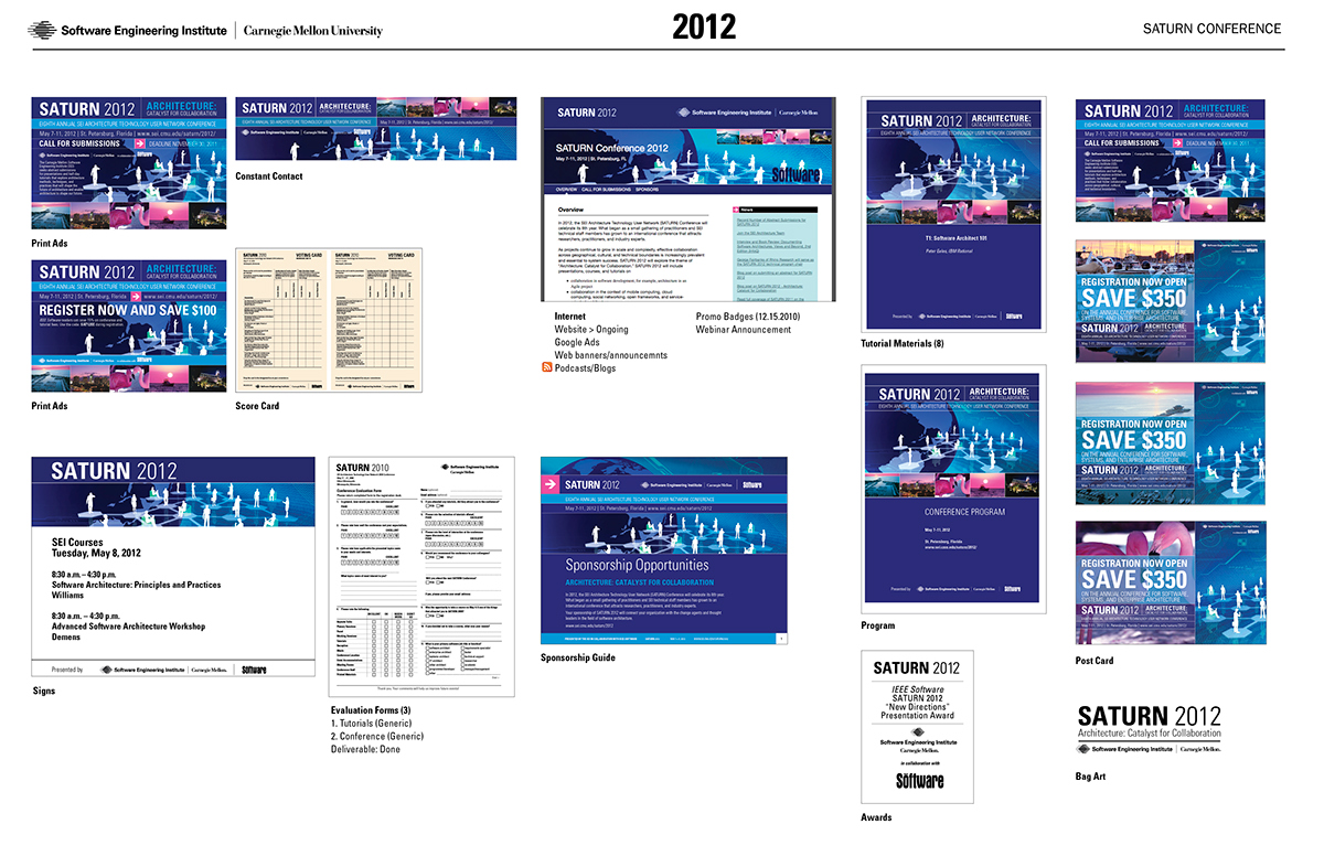 SEI - SATURN Conference 2008-2015 on Behance