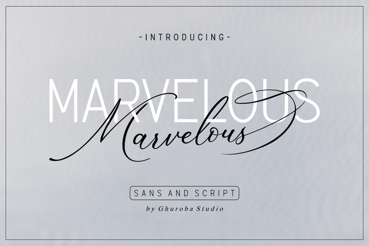 Шрифт – Marvelous