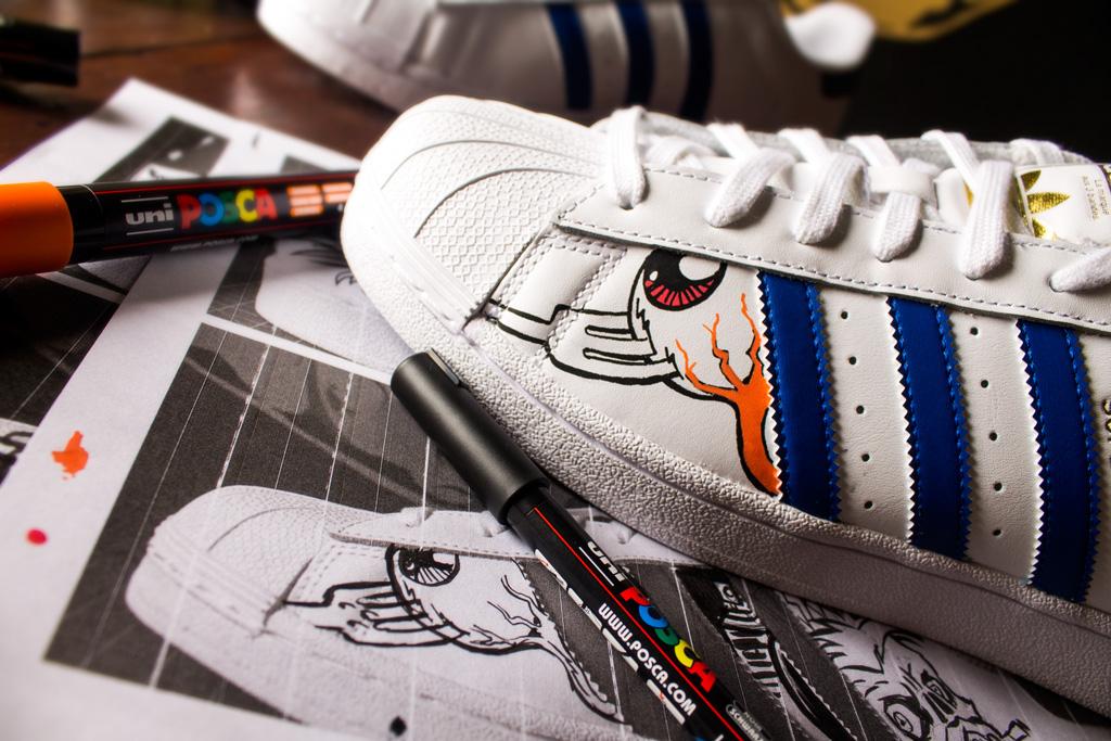 mediodía partido Republicano Continuo  Adidas Superstar Custom Art on Behance