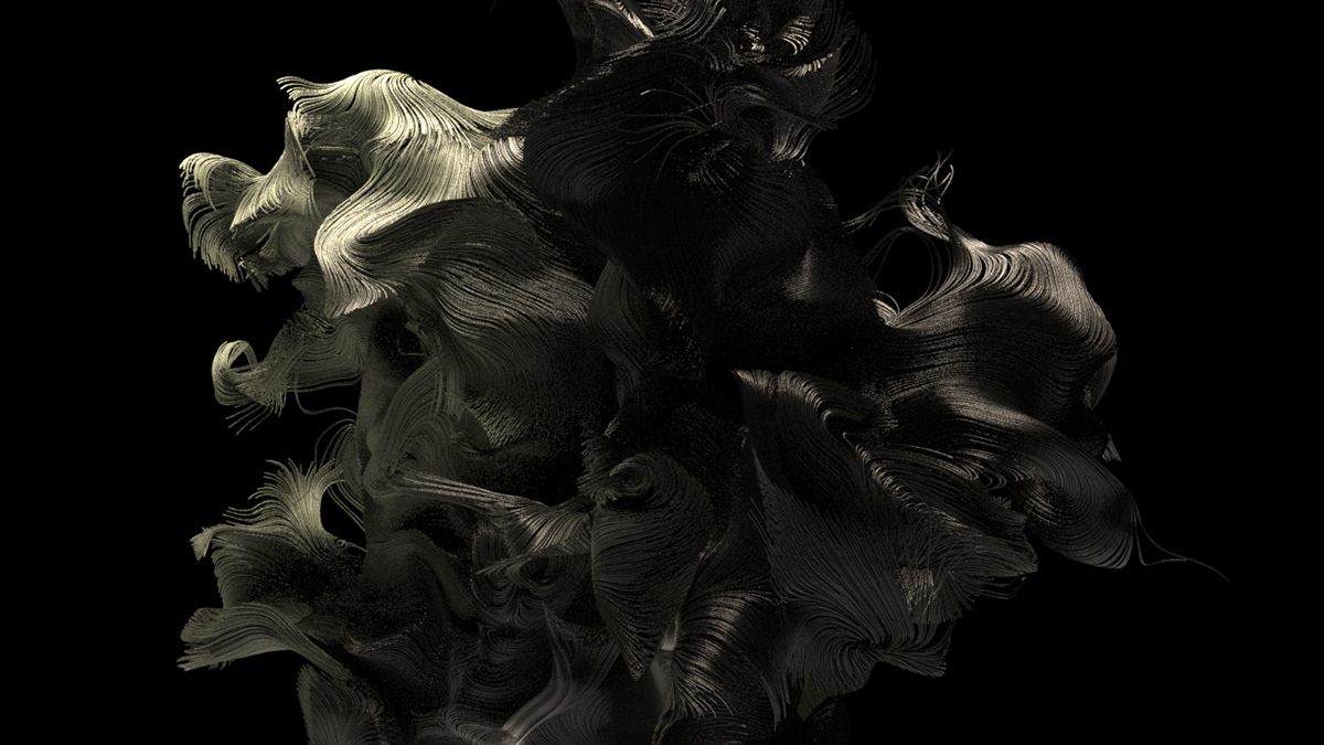 Digital Art  digital art animation  houdini abstract after effects Render Project organic