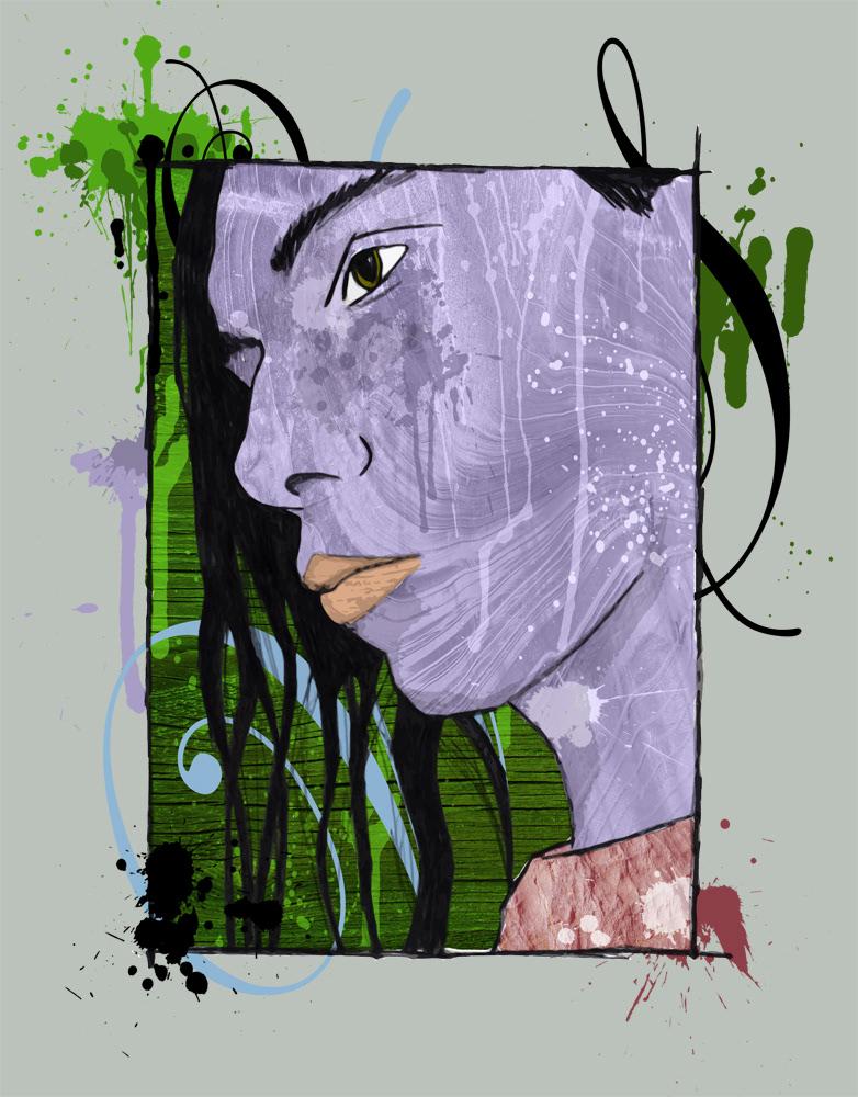 freehand ILLUSTRATION  Drawing  doodle sketch pen pencil portrait self-portrait