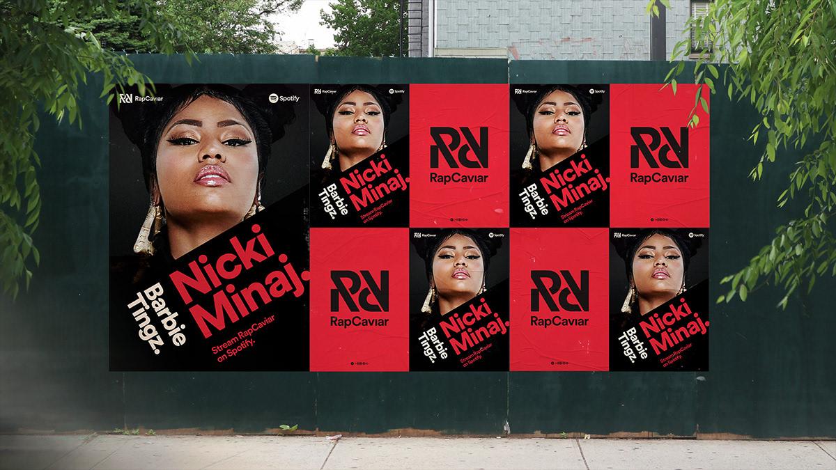spotify Rapcaviar music rap branding  Identity System hip hop playlist guidelines motion