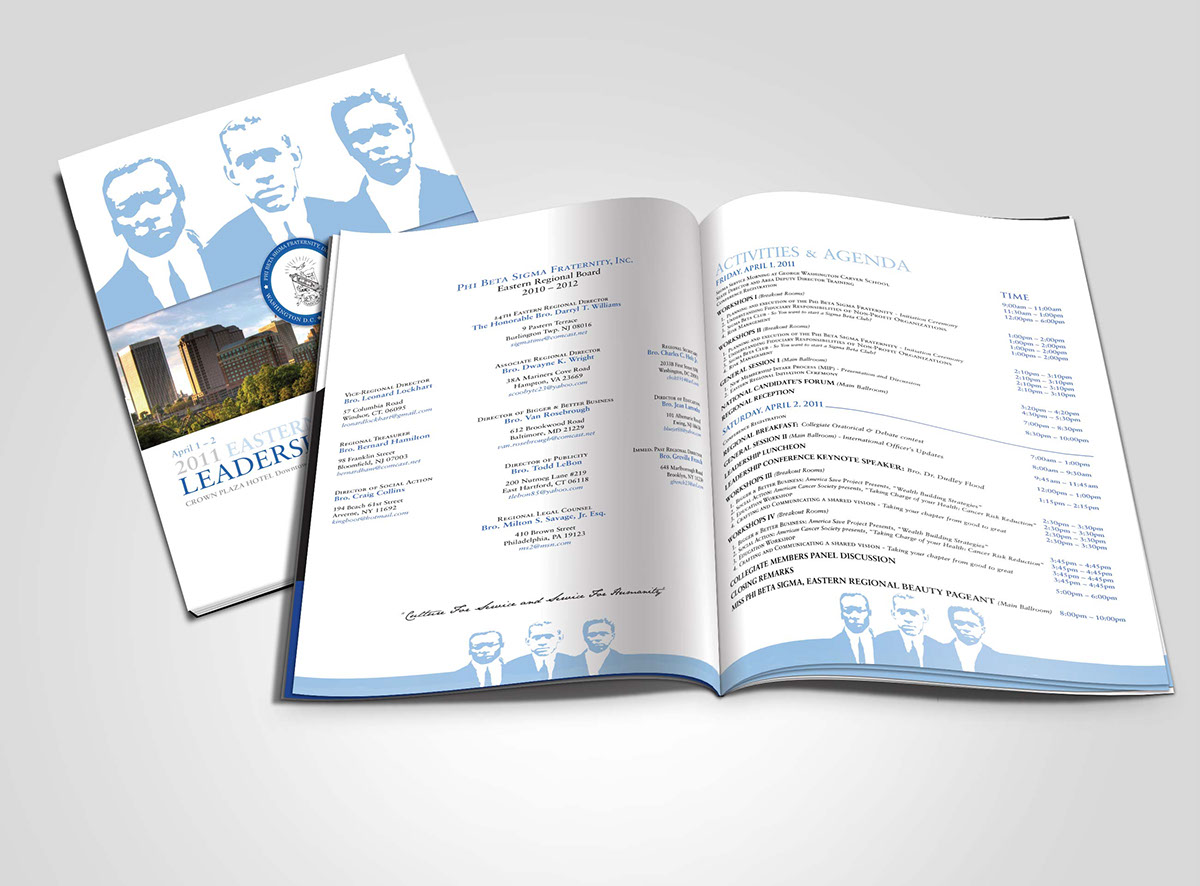 phi beta sigma leadership conference program booklet on behance
