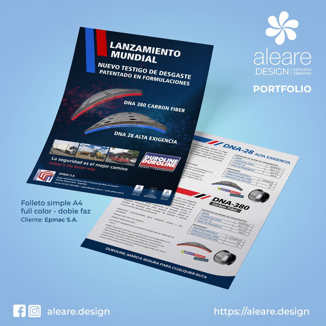 brochure diseño gráfico flyer folleto graphic design  print design  product presentation