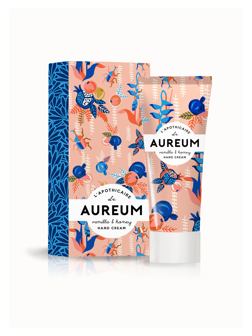 hand cream,beauty,Tropical,Beauty Products,pattern,Fun,lotion,graphic art,prints,Prints and pattern,product,surface design,identity,French,animal