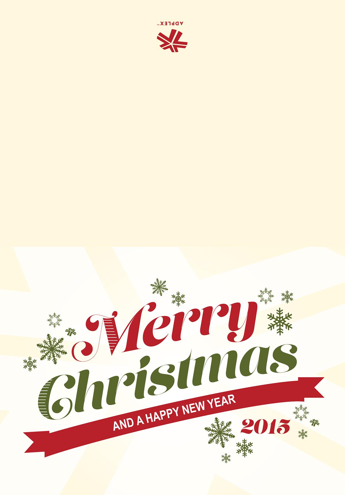 2015 Company Christmas Card Design On Behance