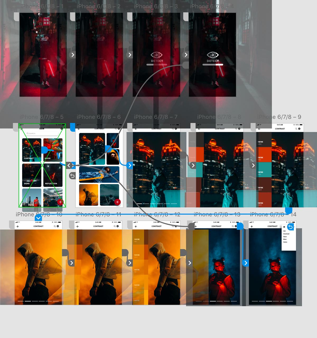 xddailychallenge Adobe XD Mobile app app design Photography  ui design interaction UX design mobile contrast