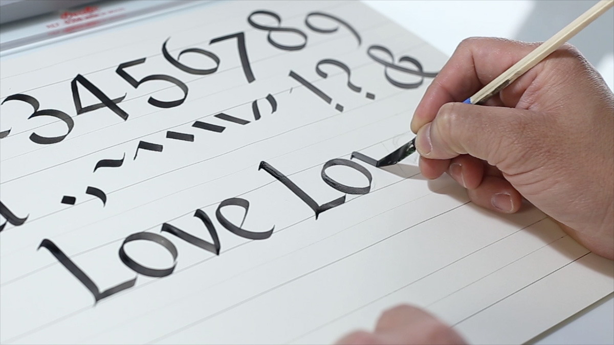Online Calligraphy Class 1 The Foundational Style On Behance