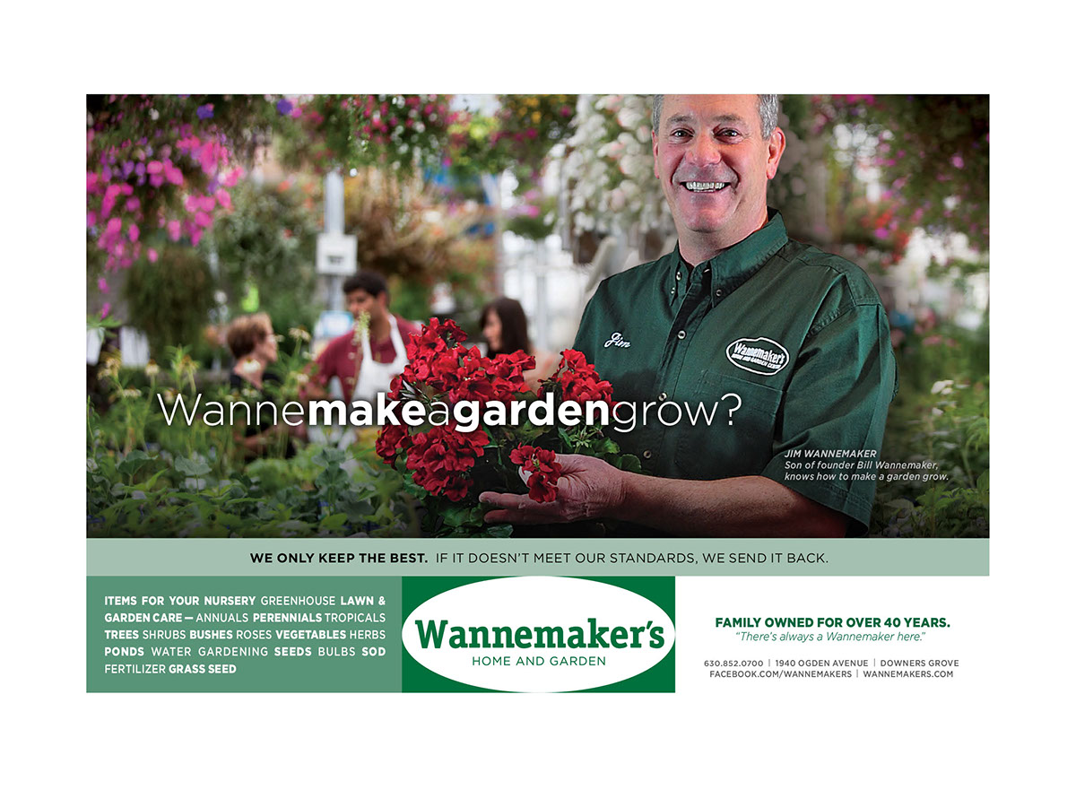 Newspaper And Magazine Ads. A Wannemaker Is Featured In Each Photo   Taking
