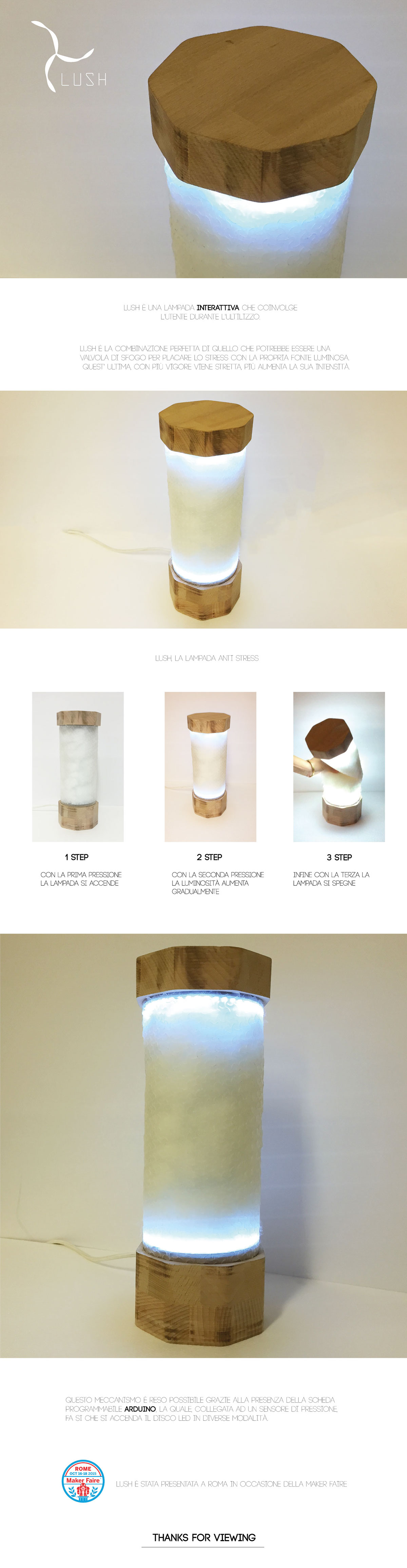 Lamp,design,Arduino,interaction,makerfaire,lush,ied