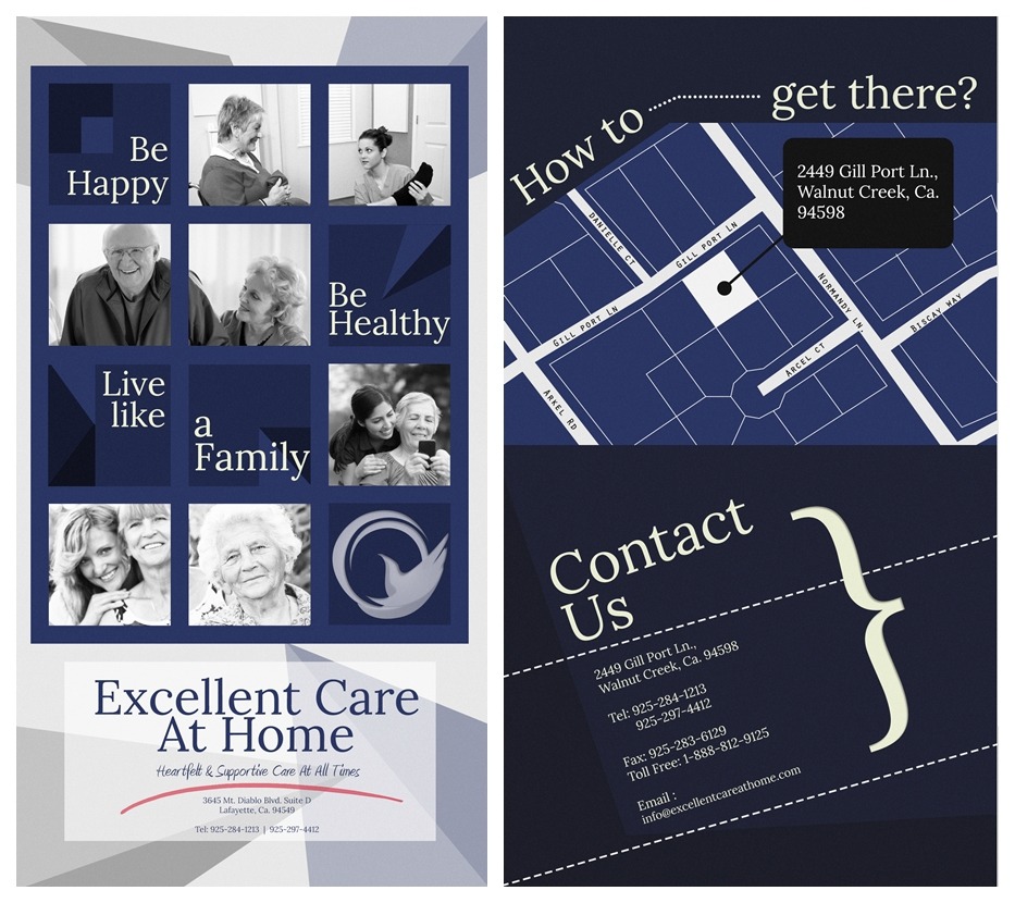 Excellent Care In A Kind Conservative: Excellent Care At Home Brochure On Behance