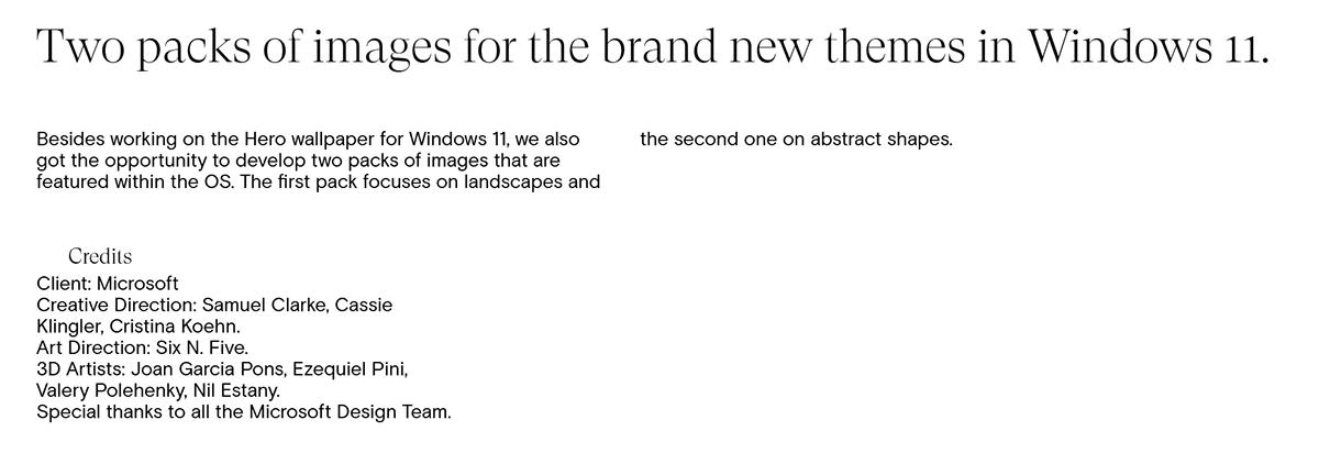 design Landscape Microsoft sixnfive Wallpapers windows WINDOWS11