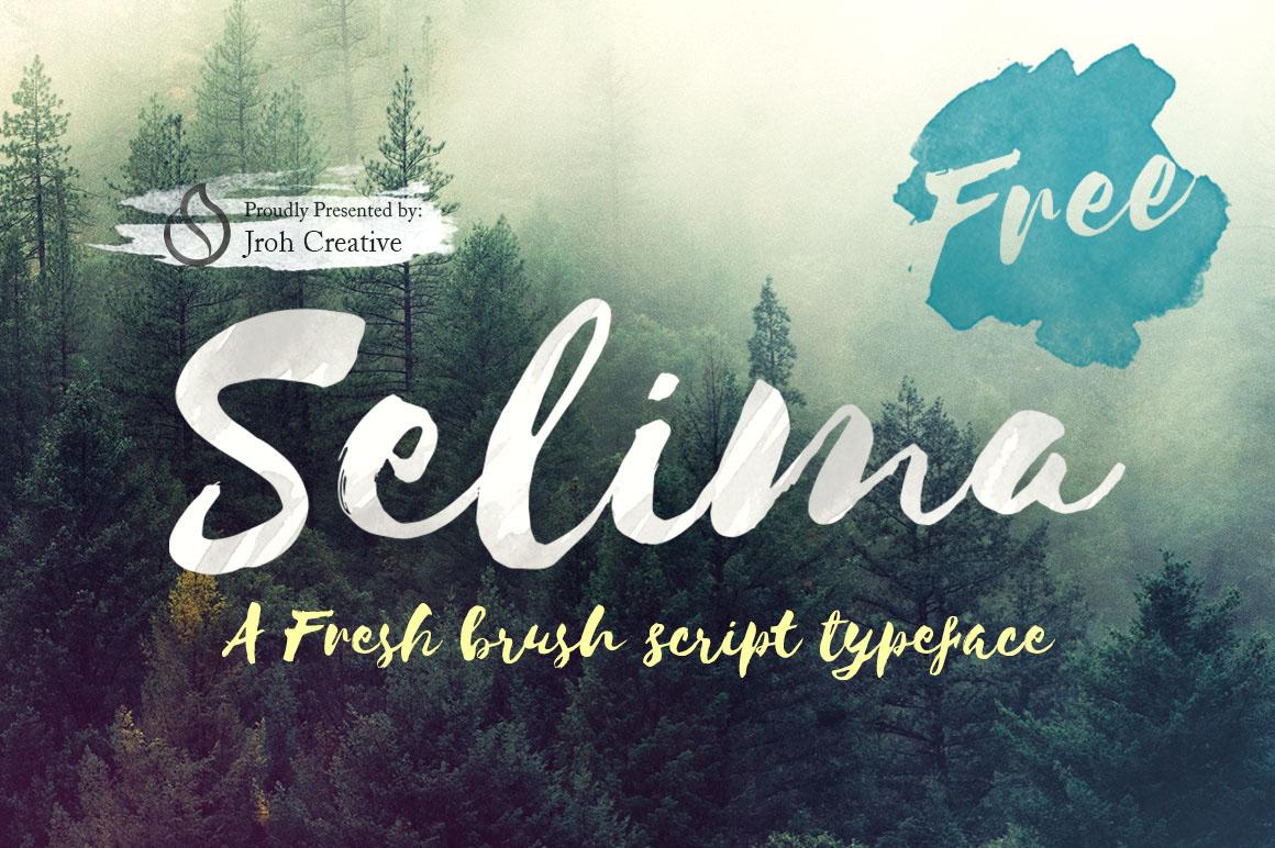 free font lettering handmade brush fresh commercial