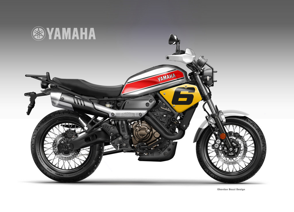 yamaha xsr 700 coolest brother croxity on behance. Black Bedroom Furniture Sets. Home Design Ideas