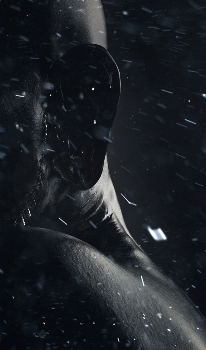 girl crystals black wind snow
