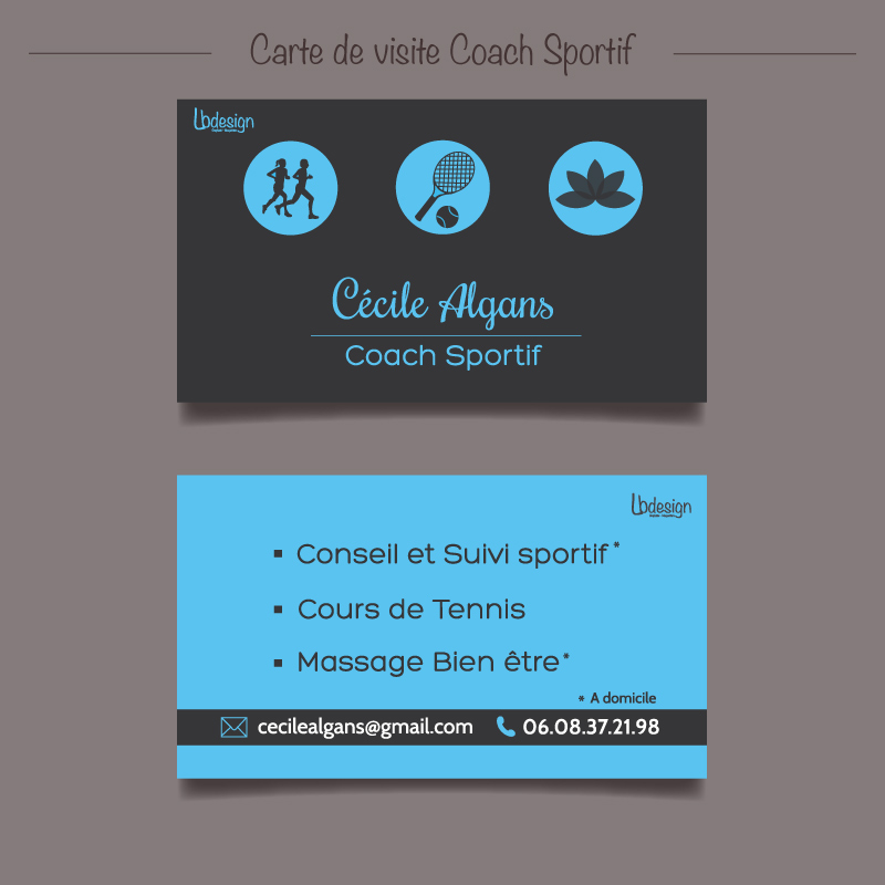 Carte De Visite Coach Sportif On Behance