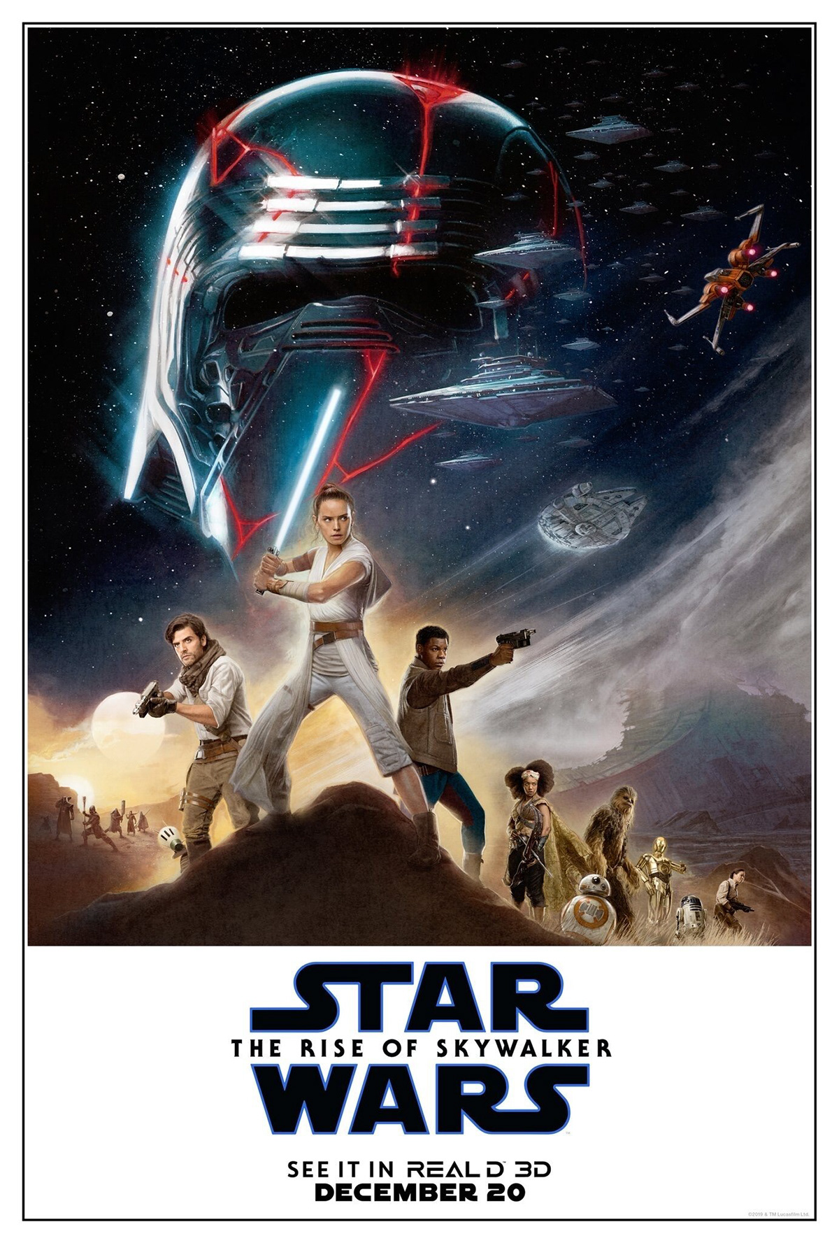 Star Wars The Rise Of Skywalker Real D 3d Poster On Behance