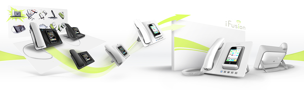 Altigen ifusion iphone Accessory docking STATION apple Office professional network phone desktop