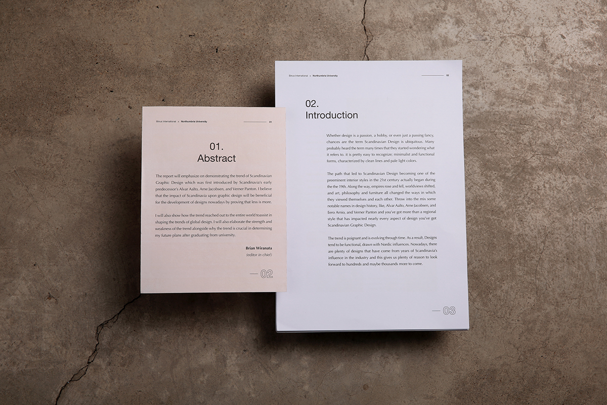 ... Of Scandinavian Graphic Design. The Look Of The Report Is Demonstrated  With A Combination Of Muted Color Palettes, Minimal Ornamentations And  Function ...