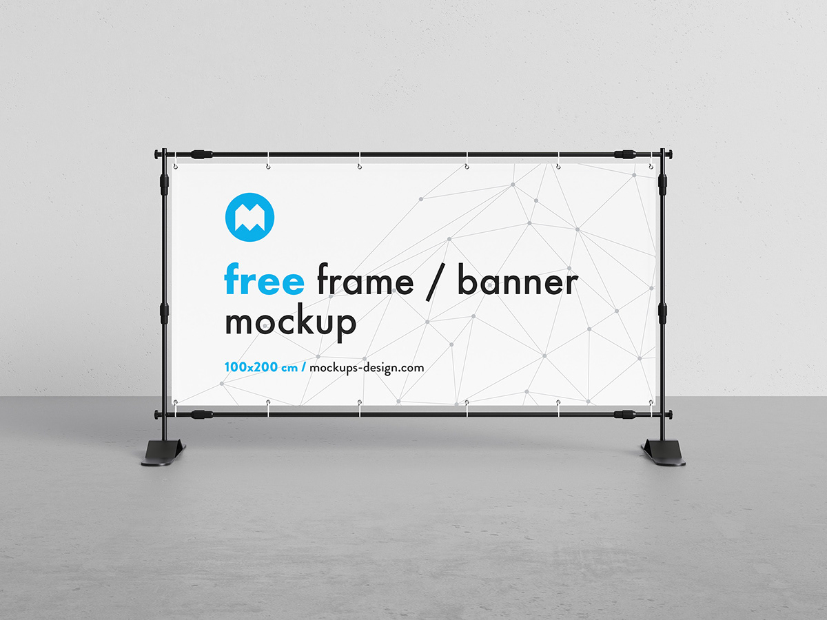 Exhibition Stand Mockup Free Download : Free stand banner mockup on behance
