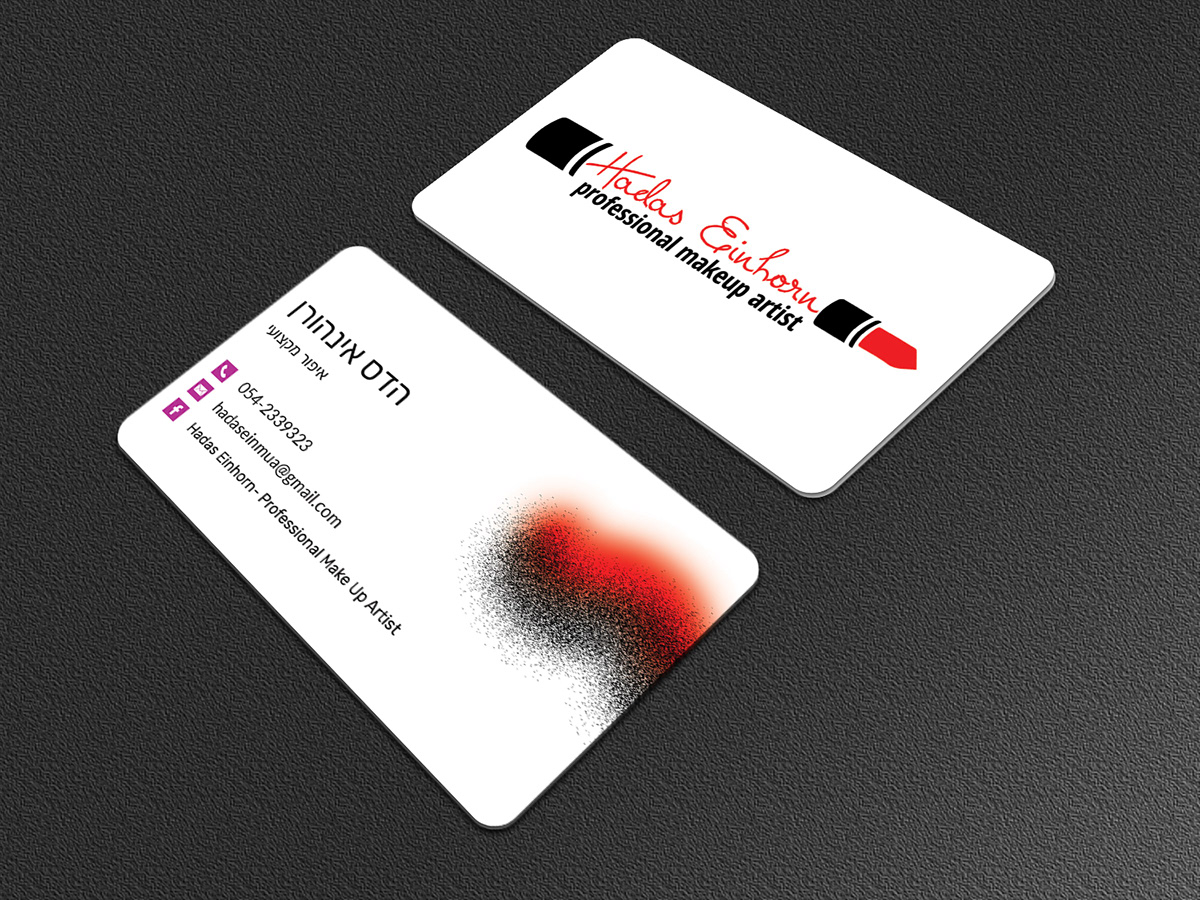 Business card for professional makeup artist on student show business card for professional makeup artist colourmoves