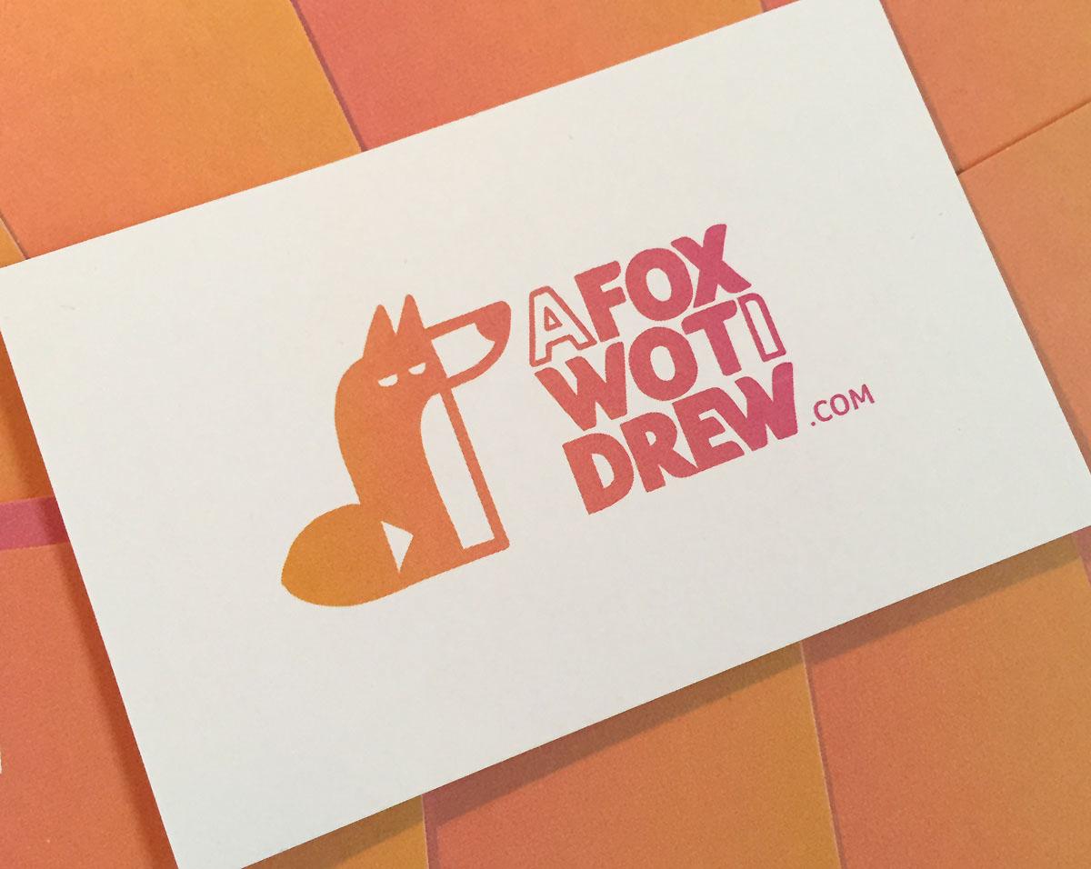 A Fox Wot I Drew Business Card