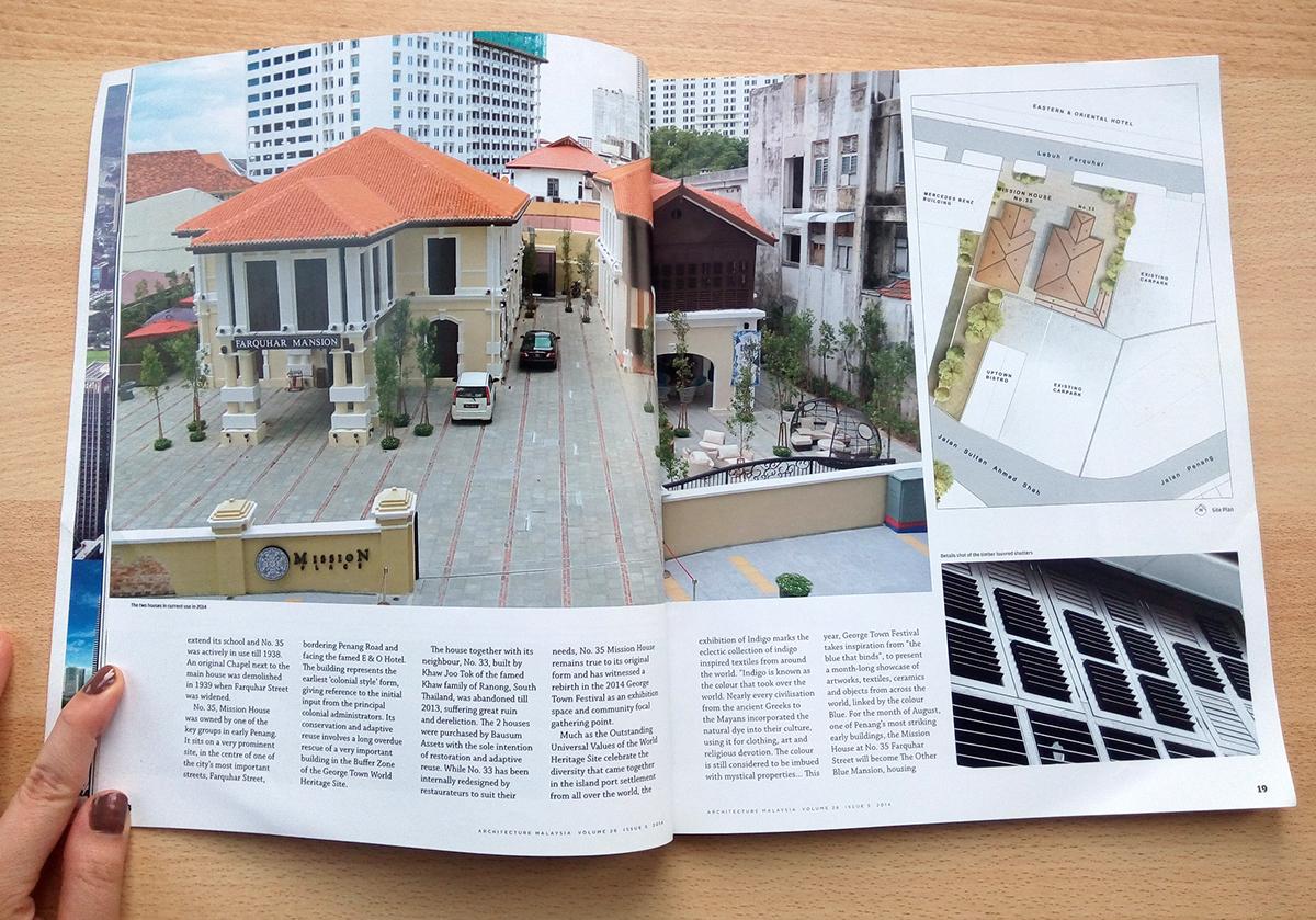 magazine feature architecture malaysia Mission House penang malaysia