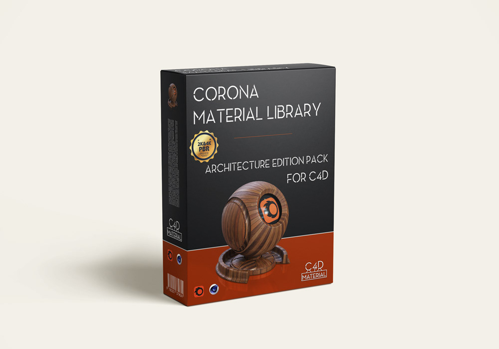 Corona material library 4k PBR textures