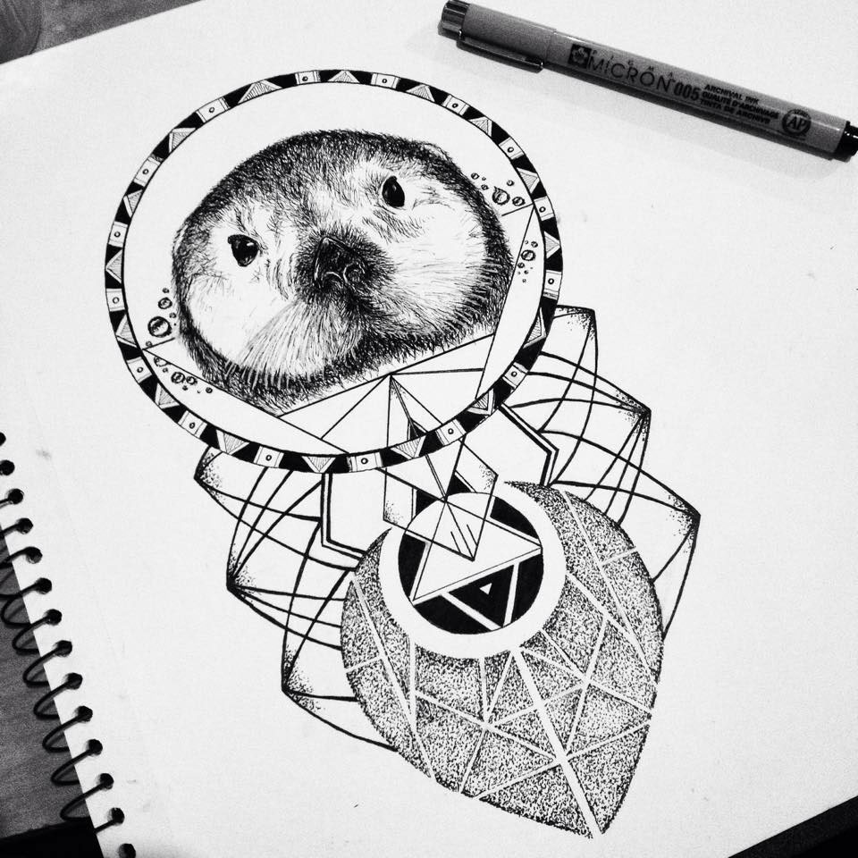 Sea Otter Tattoo Commission On Behance