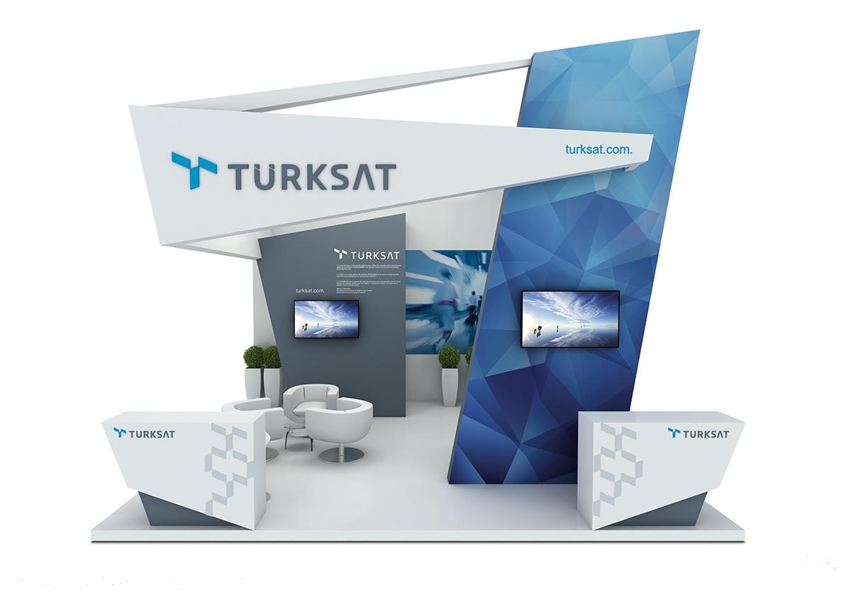 Exhibition Stand Design Behance : Turksat at cabsat on behance