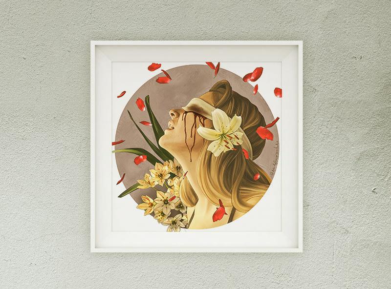 COVID19 Digital Art  Flowers ILLUSTRATION  photoshop Procreate Quarantine stayhome