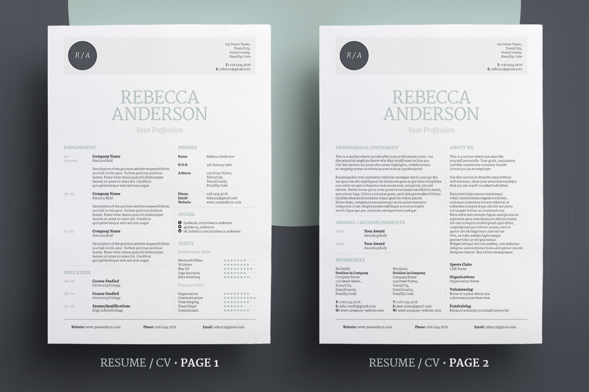 elegant resume  cv v1 on behance