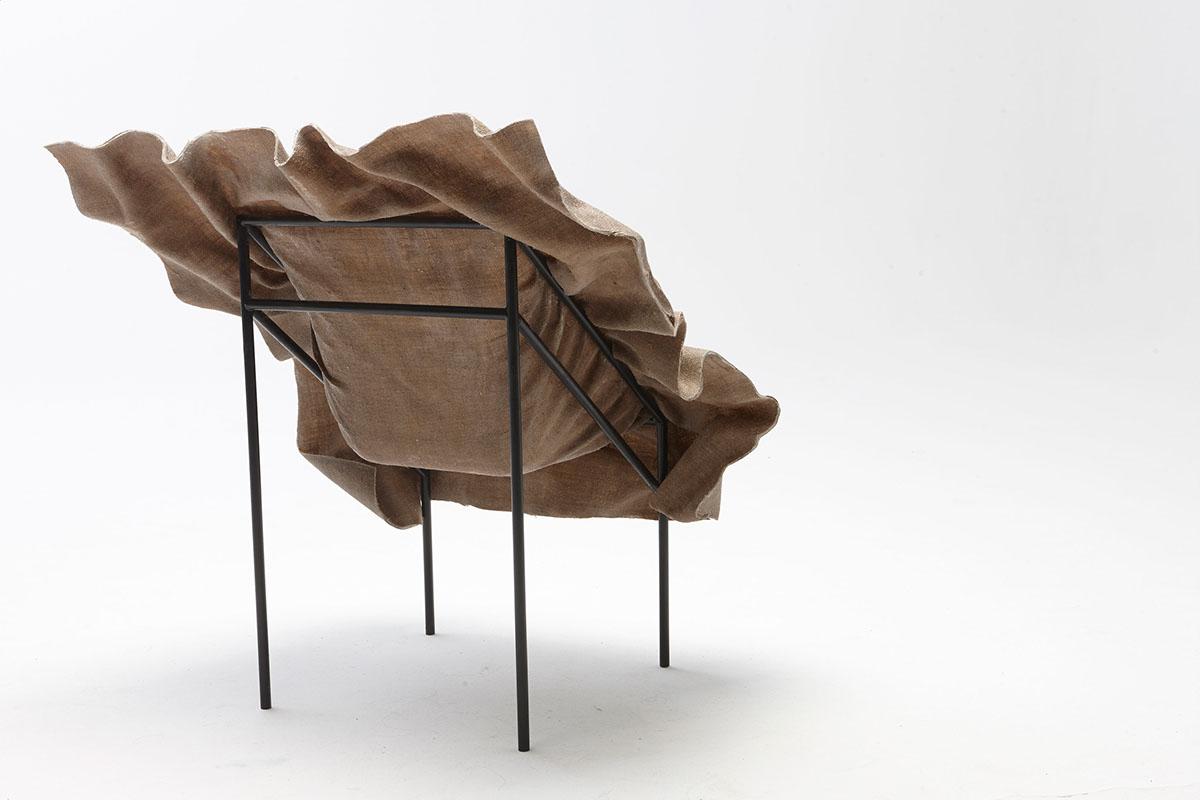 poetic fruntiure chair frozen textile