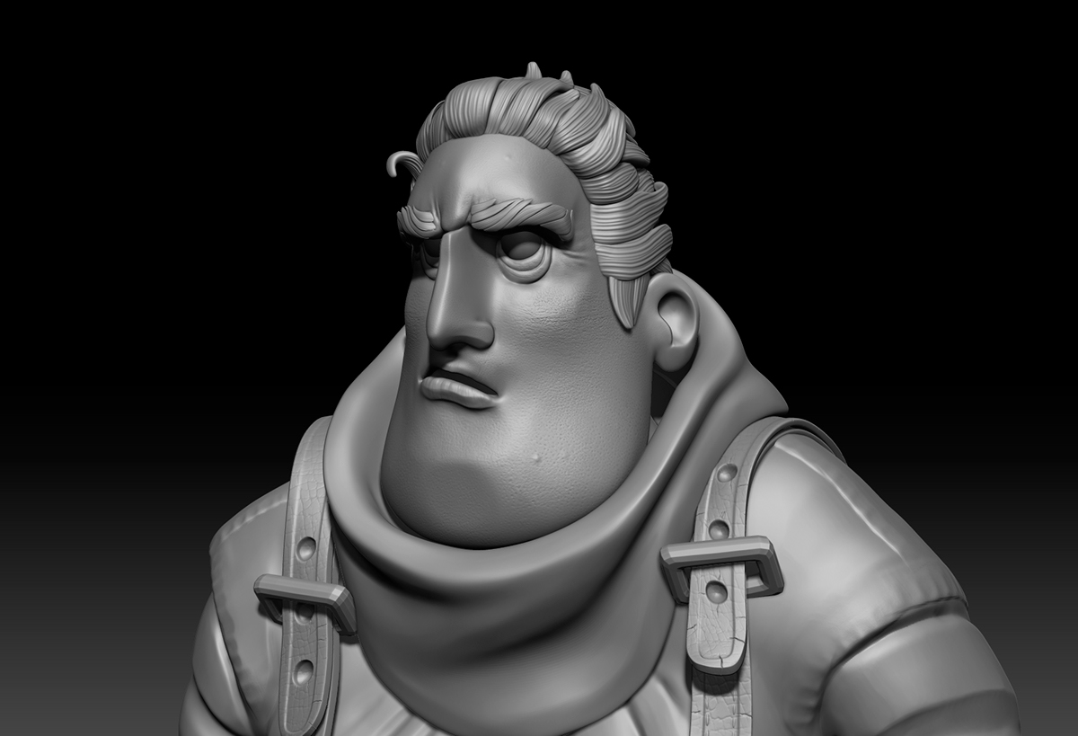 Zbrush vray 3ds max modeling 3D model Game of Thrones hodor got