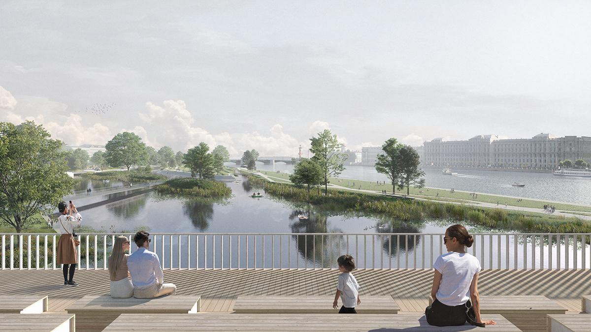 Competition Katarsis katarsis architects Landscape Landscape Architecture  Park russian architecture Saint-Petersburg tuchkov park Urban Planing