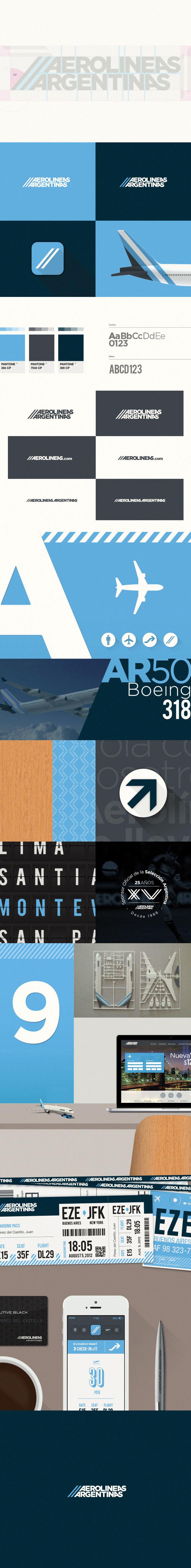 argentina diseño Rebrand logo aerolineas Airlines pantone gotham