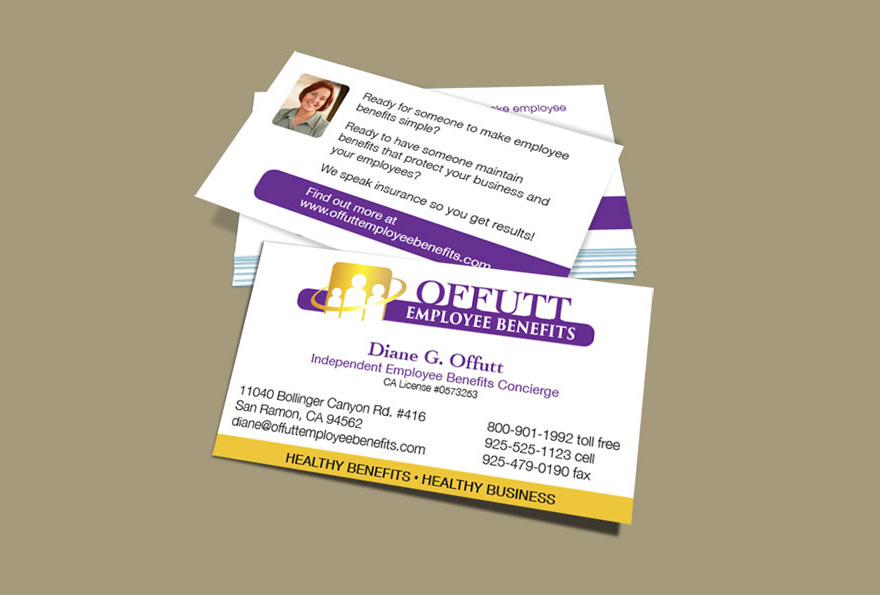 Cyber island graphics offutt employee benefits brand design a logo and brand across stationery business cards etc then design a website that contained a lot of insurance information but in a client friendly colourmoves