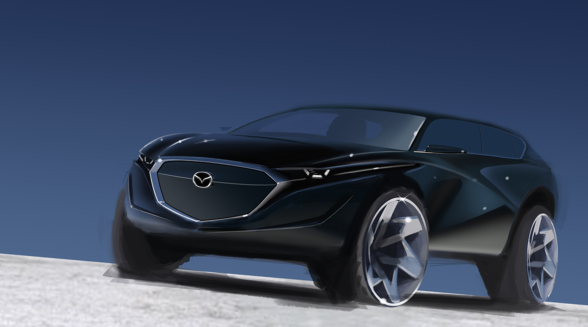 mazda cx urban electric suv for 2025 on behance. Black Bedroom Furniture Sets. Home Design Ideas