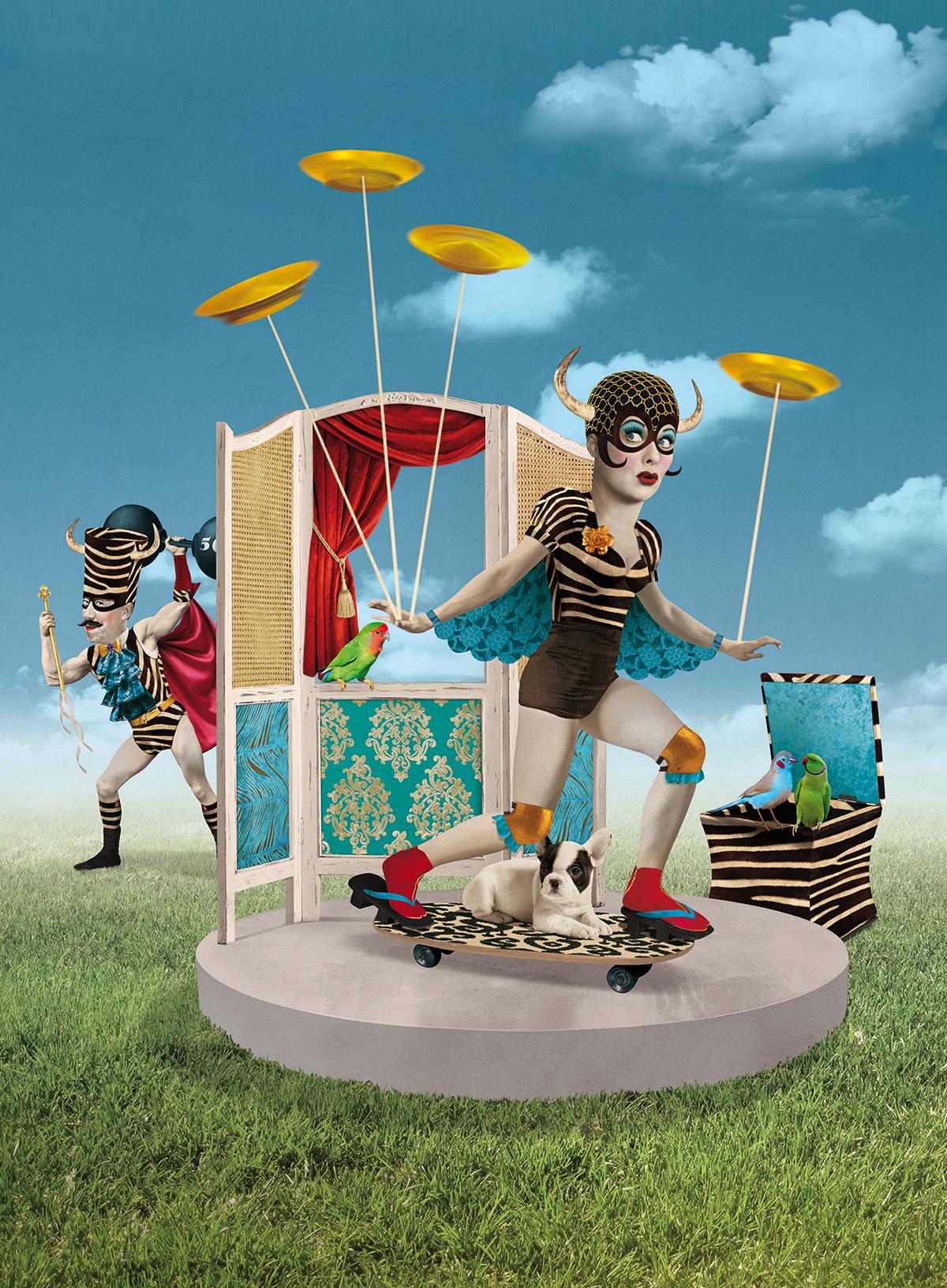 Mercateatre StMArtí ilustracion circo Animación de calle cartel Artes escenicas