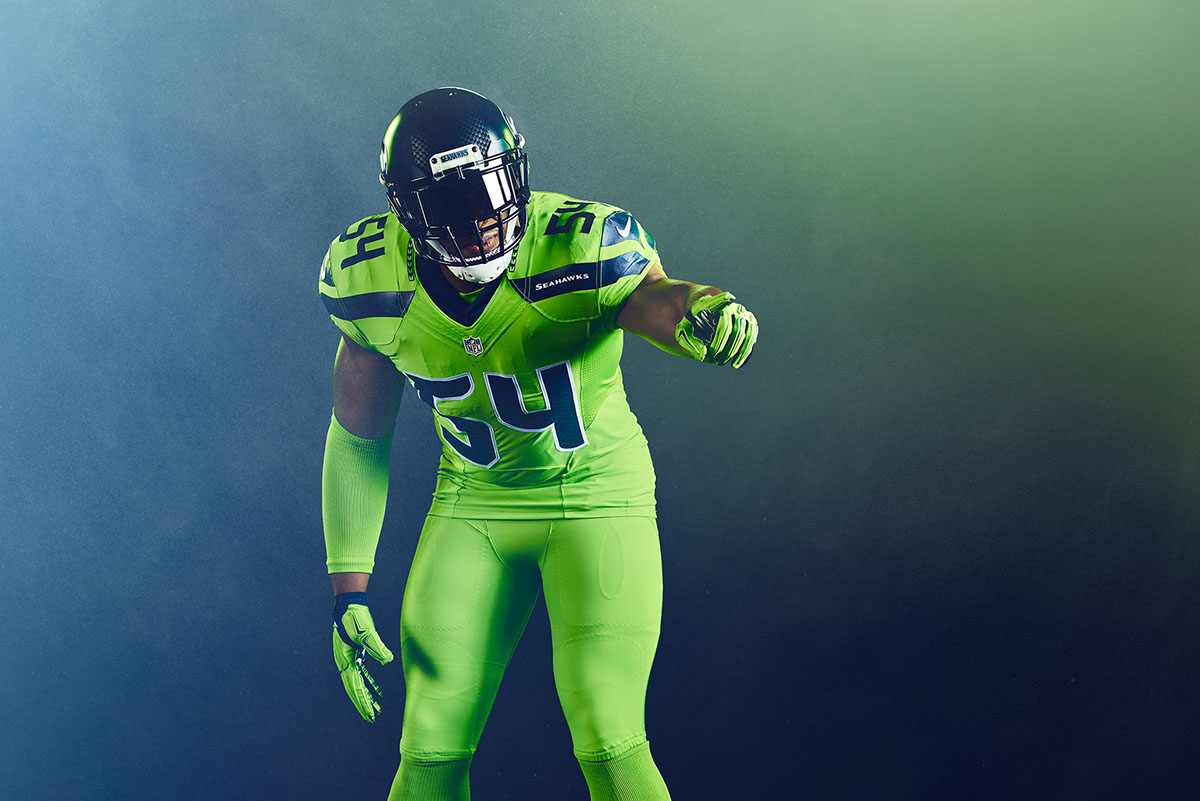 brand new b0ad6 036b6 Seattle Seahawks - Color Rush on Behance
