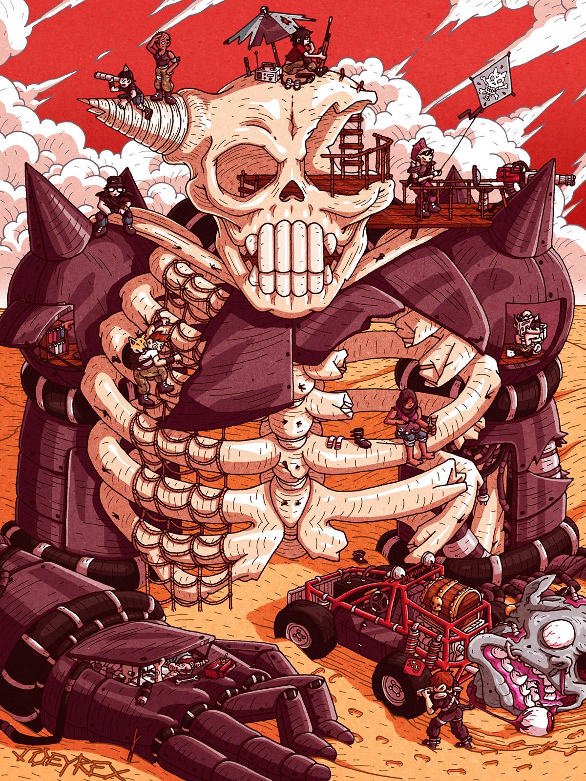 ILLUSTRATION  graphic monsters portfolio posters Character design  joeyrex