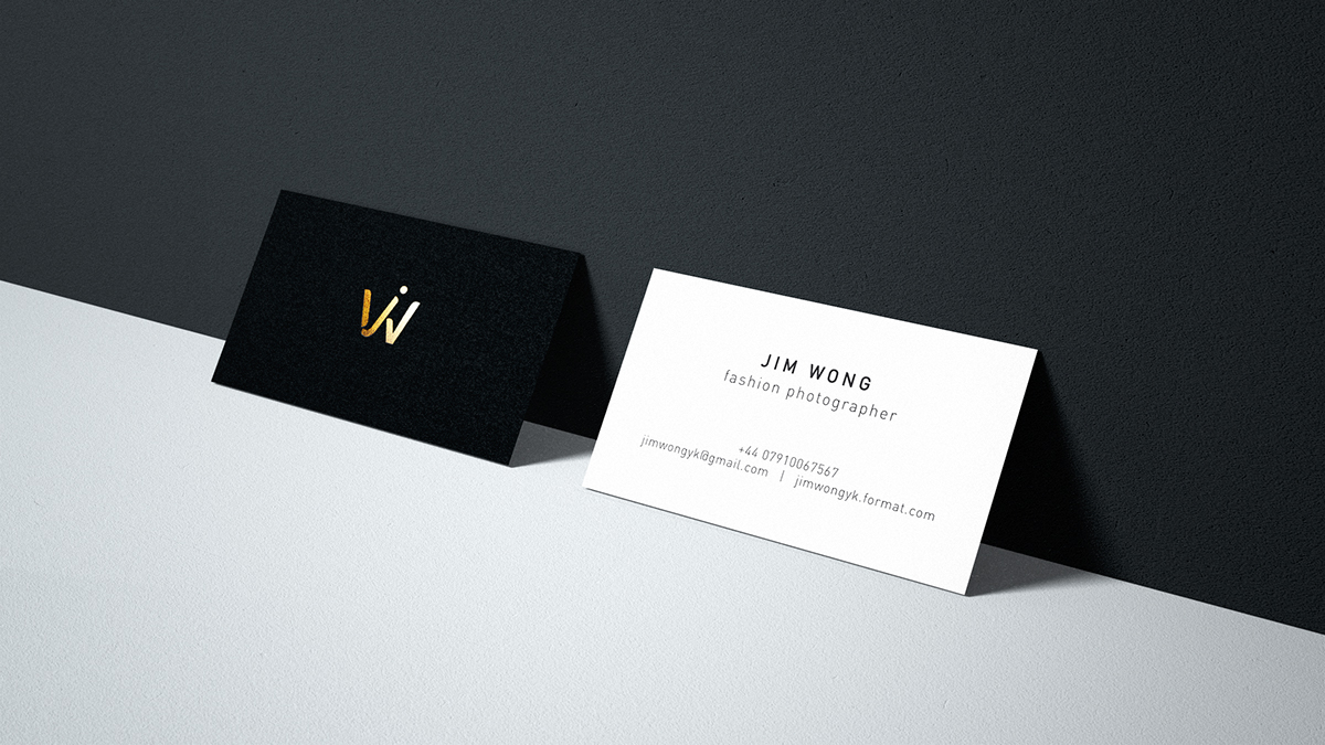 Personal identity for jim wong business card design on student show to create a logo and business card for a fresh fashion photographer jim wong who based in london aiming at highlighting personality while keeping it colourmoves