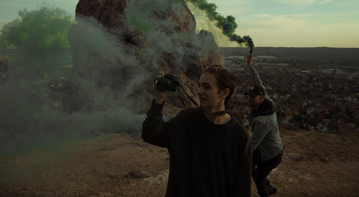 godislove Photography  smokebombs budapest budaörs noise feeling portait dark people